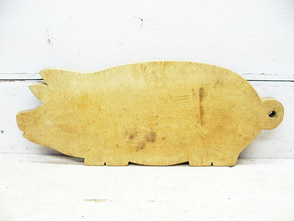 Vintage Pig Cutting Board - Primitive Kitchen Decor - Farmhouse DIY - idugitup