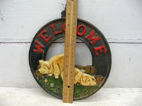 Welcome Sign For Your Porch or Kitchen - Rusty Cast Iron Country Pig - idugitup