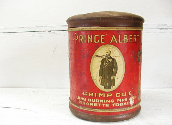 Vintage Prince Albert Tobacco Tin - Old Tobacco Tin - Tobacciana - idugitup