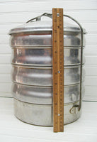 Vintage Regal Ware Stacking Food Carrier - Picnic Basket - Aluminum - idugitup