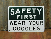 Industrial Decor - Metal Safety Sign - Caution Danger Warning Sign