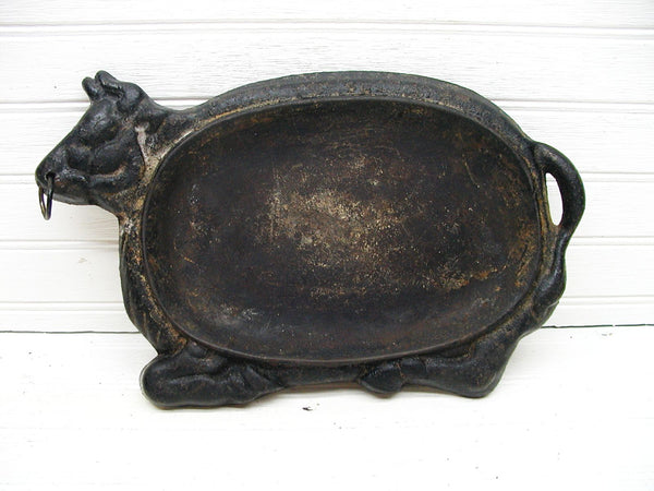 Vintage Cast Iron Sizzler Plate - Farmhouse Decor - Unique Primitive DIY - idugitup
