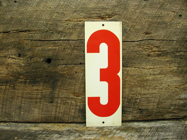 Vintage Gas Station Metal Sign Number Two and Three - Free Shipping