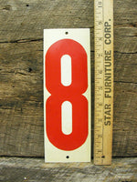 Vintage Gas Station Metal Number Price Sign - Number 7 and 8 - DIY