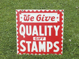 Vintage Stamps Sign - Large Mercantile Sign - Old Advertising Sign - idugitup