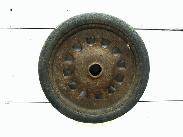 Vintage Wagon or Cart Wheel - Barn Rescue - Restoration - Old Cart Wheel - idugitup