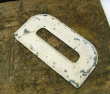 "Vintage Metal Letter D Letter Sign 7 1/2"" Large Thick Tin Sign Marquee - DIY Free Ship"