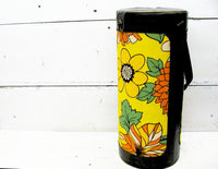 Vintage Wine Picnic Tote - Retro Wine Carrier - Flower Power Cooler - idugitup