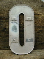 "Vintage Metal Number 0 Number Zero Sign 10"" Large Thick Tin Sign Marquee White"