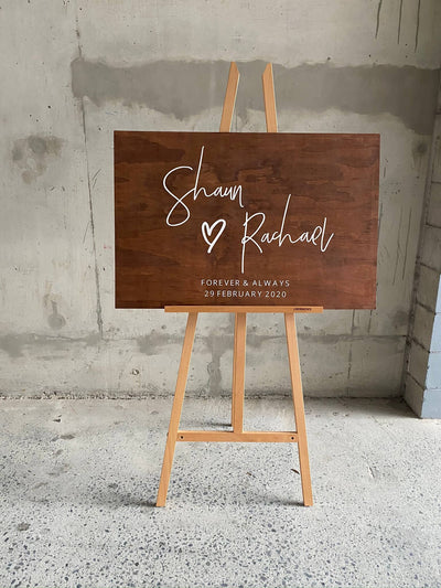 The RACHAEL | Wooden Welcome Sign