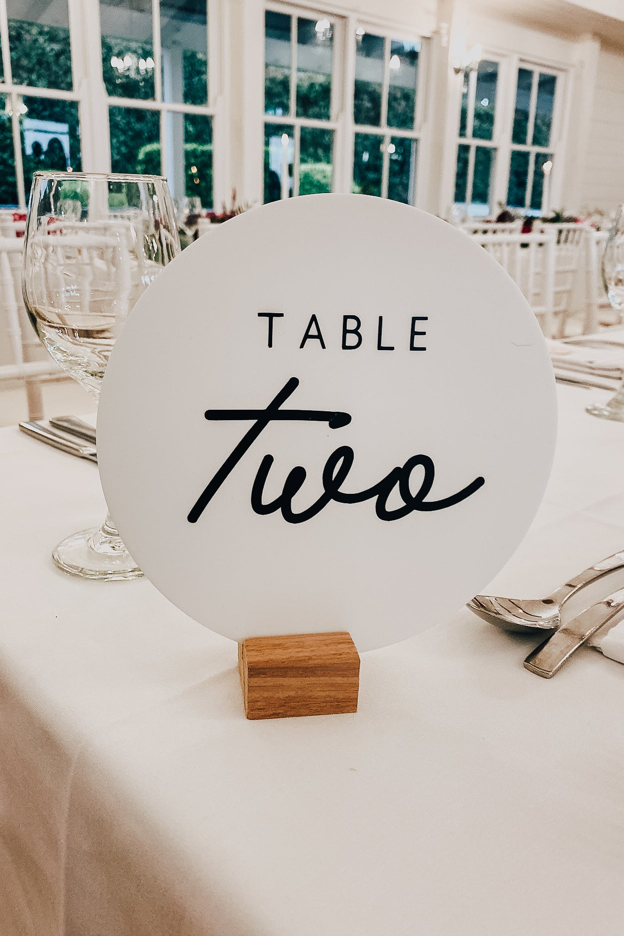 Custom LULU Round Table Numbers