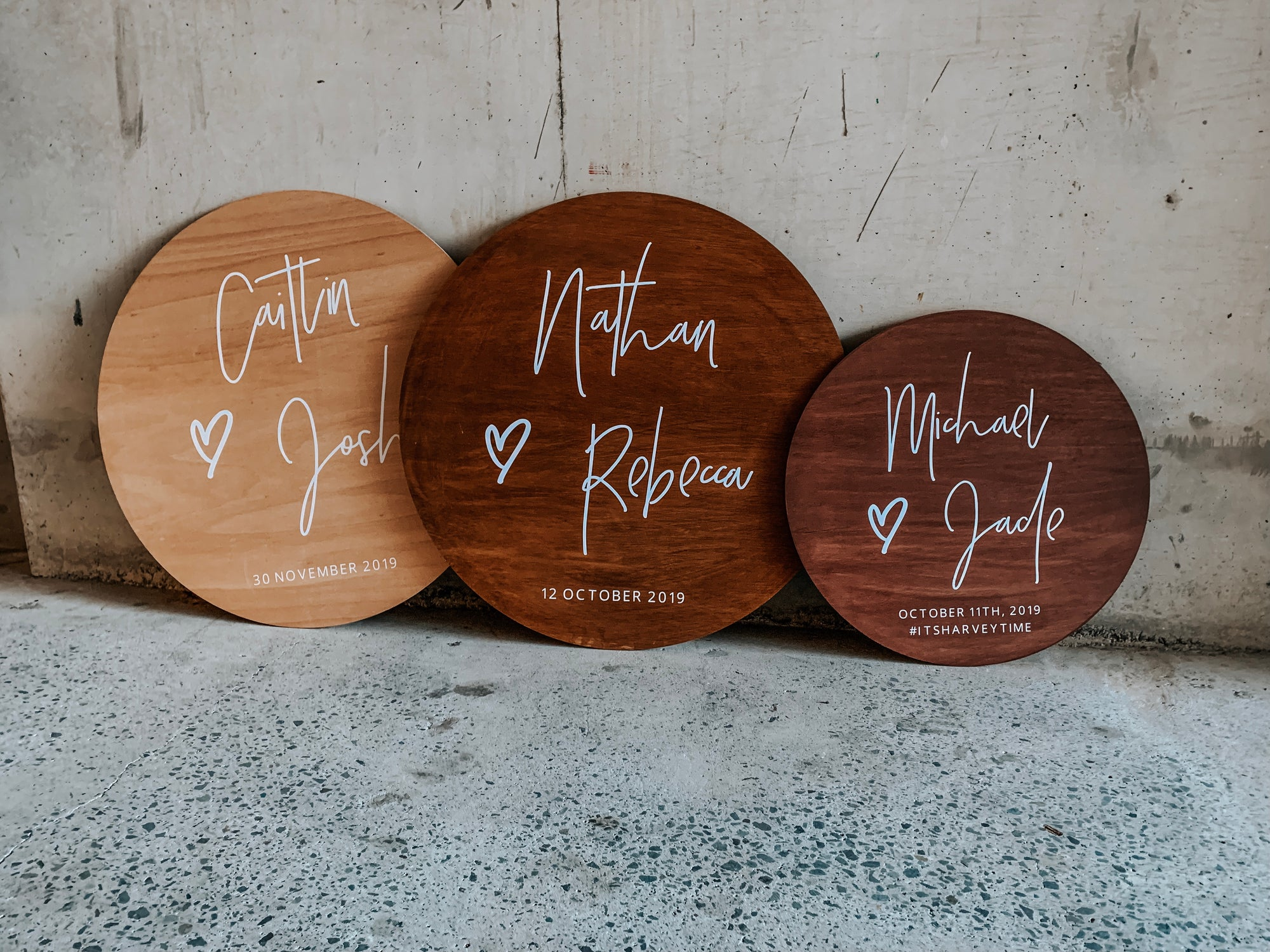 Personalized Round Wooden Signs Australia Blank Space Collective