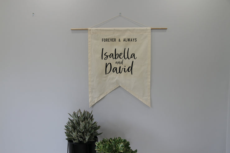 Personalized Small Baby Shower Fabric Banners