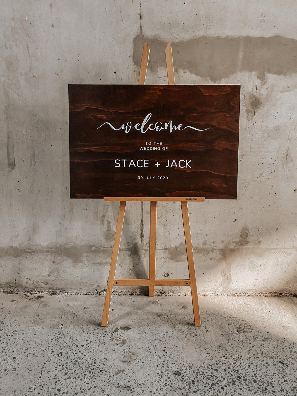 Customized Wooden Welcome Sign