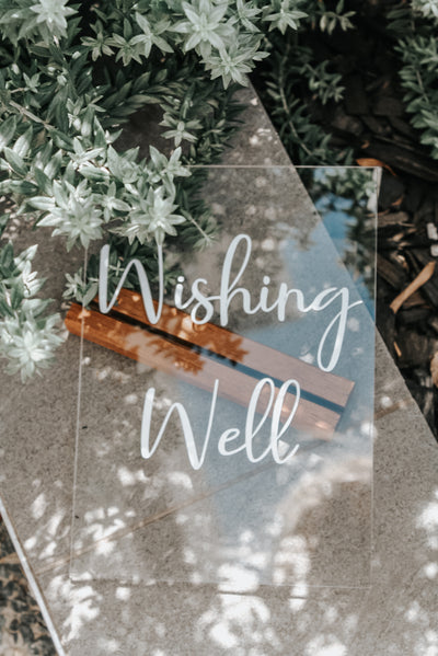 Wishing Well Table Sign