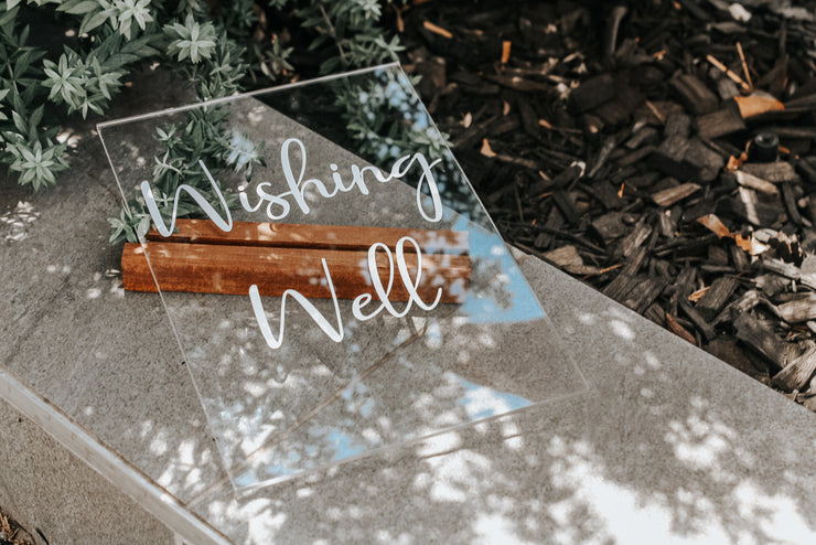 Custom Wishing Well Table Sign