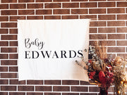Personalized Baby Shower Fabric Banners