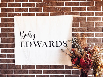 THE SIMONS | Luxe Baby Shower Fabric Banners