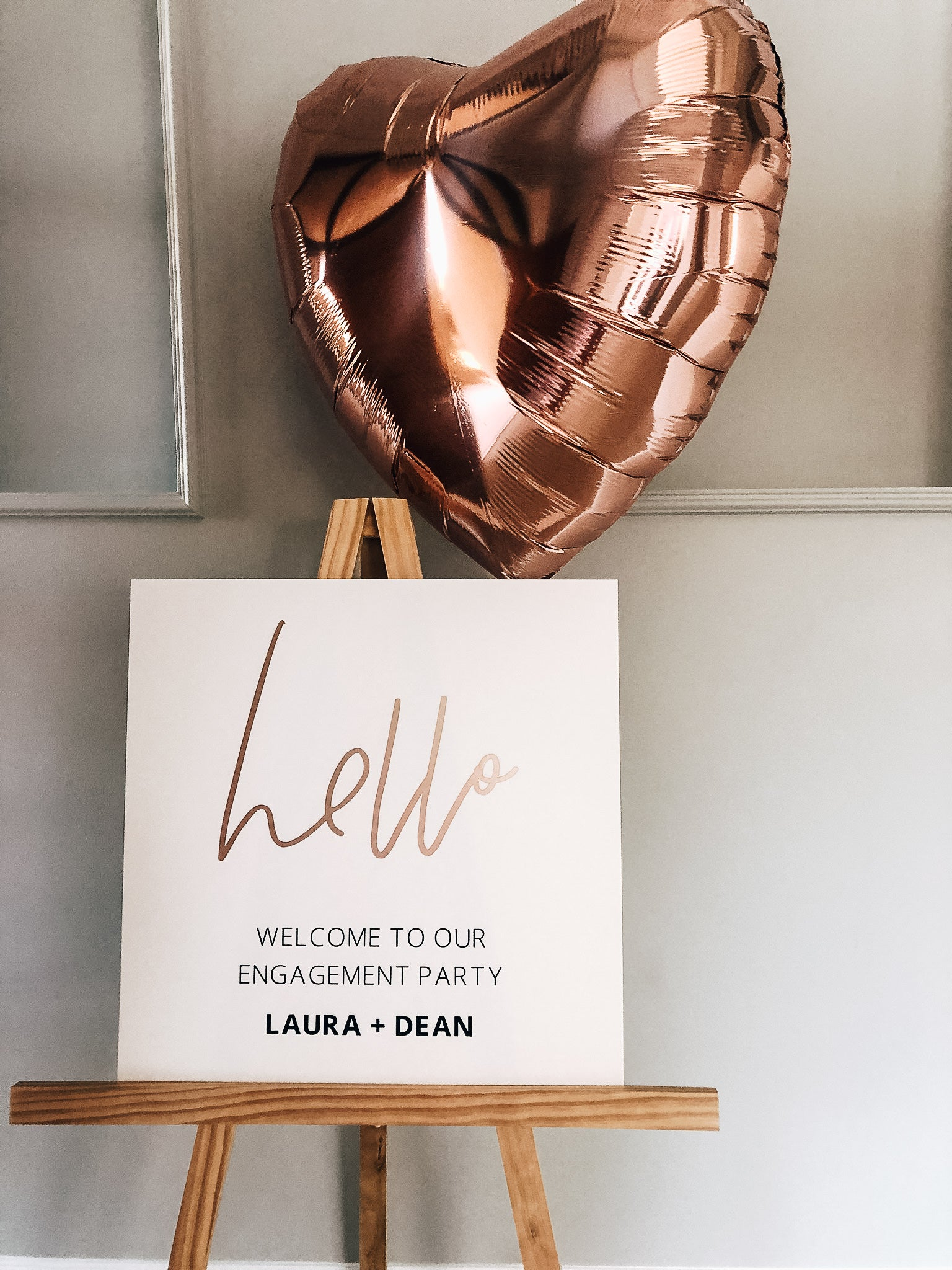 Personalized Rose Gold Wedding Sign