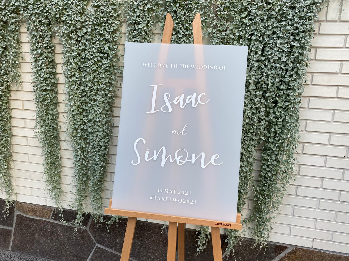 THE SIMONE | Frosted Wedding Sign