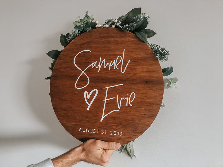 Personalized Round Wooden Signs