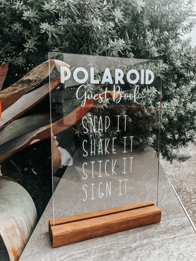Custom Polaroid Guest Book Table Sign