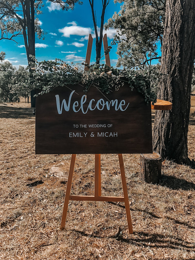 Personalizsd Wooden Welcome Sign