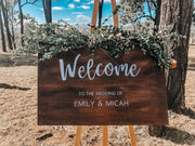 Personalized Wooden Welcome Sign