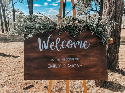 THE EMILY | Wooden Welcome Sign