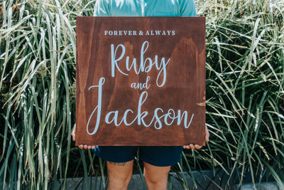 THE RUBY | Timber Welcome Sign