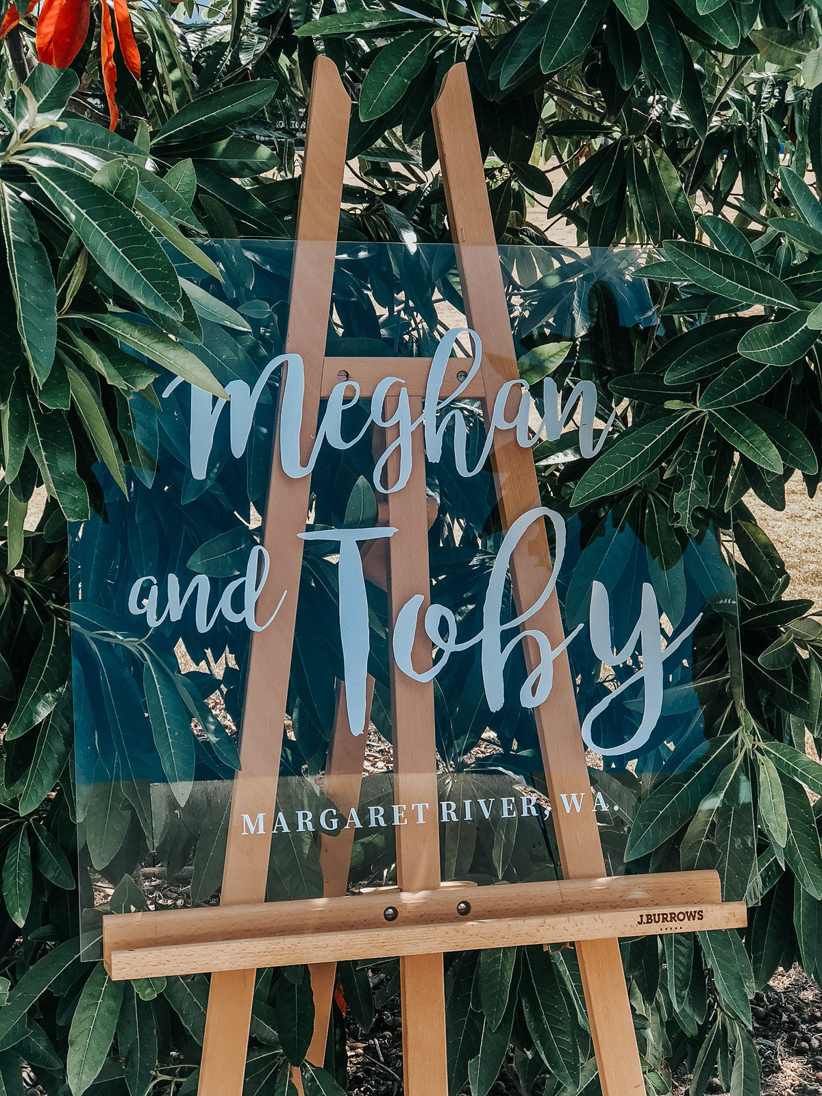 Custom See Through Wedding Sign