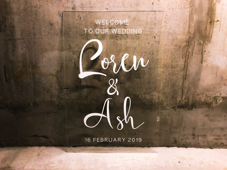 Personalized Welcome To Our Wedding Sign