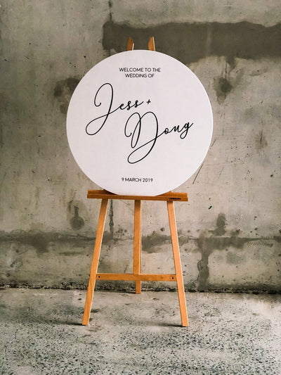 THE JESS | Circle Wedding Sign