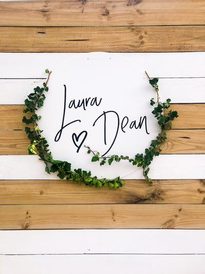 Personalized Circle Wedding Signs