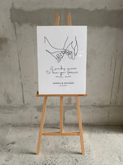 Pinky Promise | Hands Line Drawing Wedding Sign