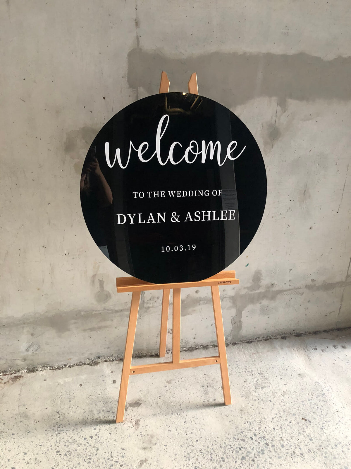 Wedding welcome sign round australia