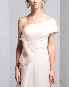 One Shoulder Tiered Organza Dress
