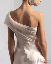Load image into Gallery viewer, One Shoulder Tiered Organza Dress - Sandy Nour