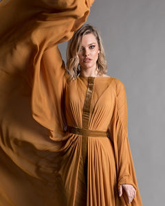 Flared Sleeves Full Moon Dress - Sandy Nour
