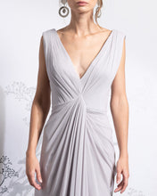 Load image into Gallery viewer, Cross Draped Wrapped Silk Dress - Sandy Nour
