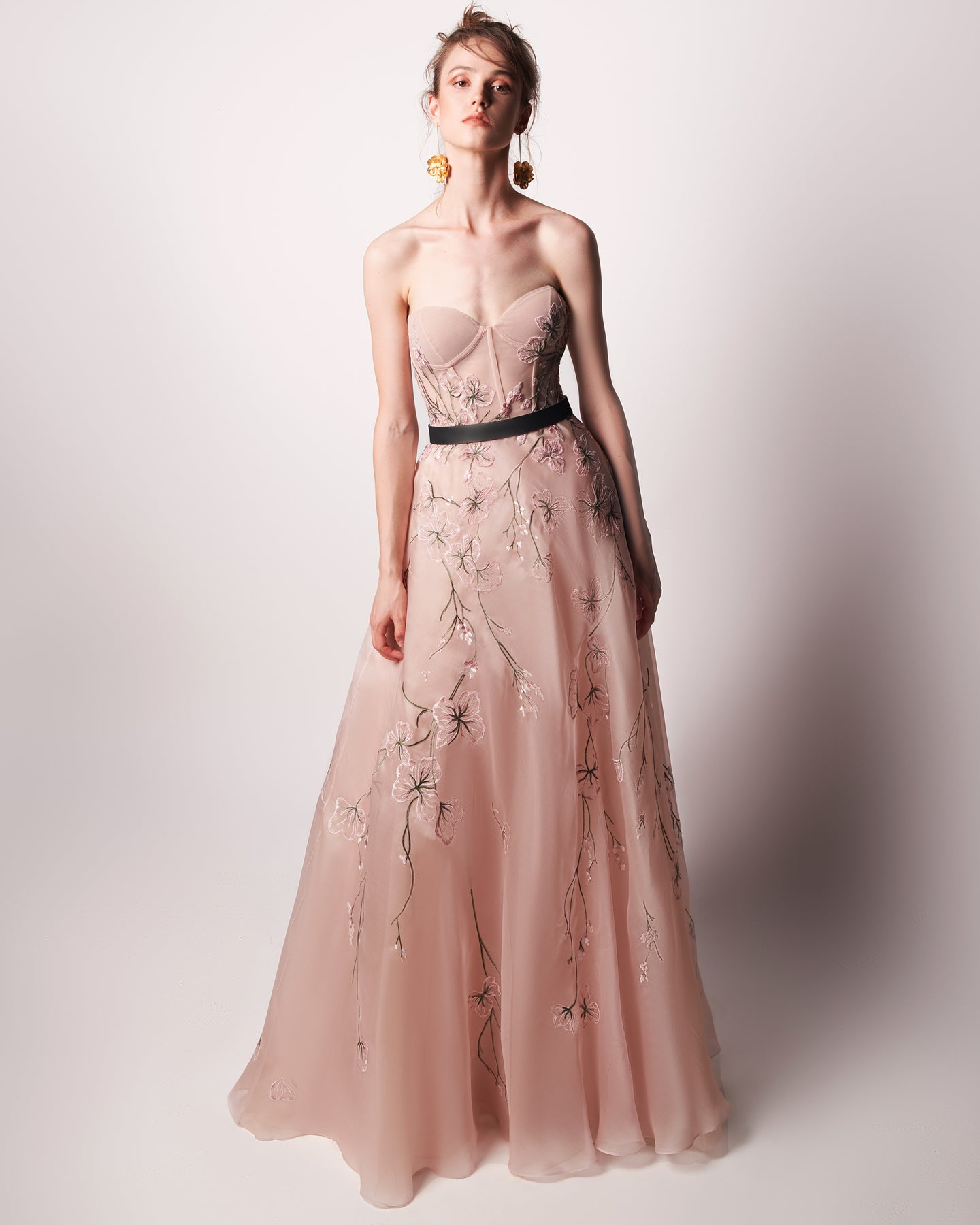 Essential Bloom - Hand Embroidered Organza Dress