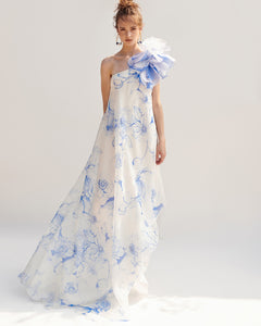 Floating Floral - Print Organza Dress