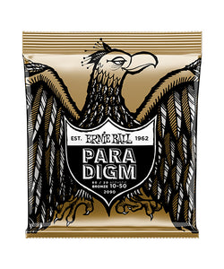 "Ernie Ball Encordadura ""Paradigm Extra Light 80/20 Bronce"" 2090, Guitarra Acústica 10-50"