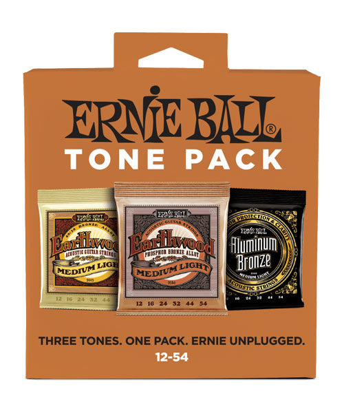 Ernie Ball Encordadura Guitarra Acústica 3313 Tone Pack Medium Light