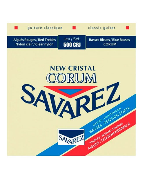 Savarez Encordadura Para Guitarra Clásica (Tensión Mixta) 500CRJ New Cristal Corum