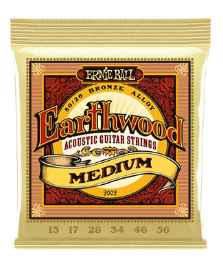 Ernie Ball Encordadura Guitarra Acústica 2002 Earthwood Medium 80/20