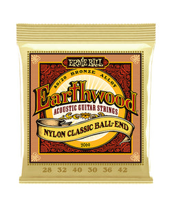 "Ernie Ball Encordadura ""Earthwood Folk Nylon"" 2069, Guitarra Clásica 28-42"