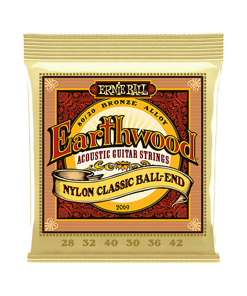 Ernie Ball Encordadura Guitarra Clásica 2069 Earthwood Folk Nylon
