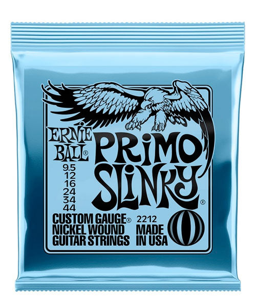 Ernie Ball Encordadura Guitarra Eléctrica 2212 Primo Slinky Nickel Wound