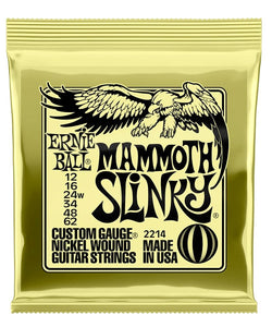 "Ernie Ball Encordadura ""Mammoth Slinky"" 2214, Guitarra Eléctrica, Nickel Wound 12-62"